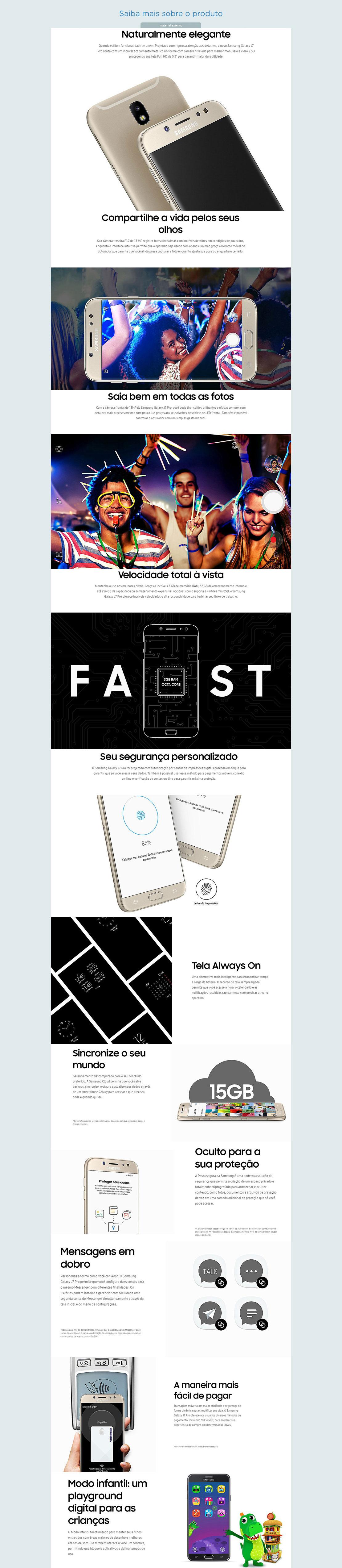 7b9e389c7d O Samsung Galaxy J7 Pro oferece aos usuários diversos métodos de pagamento