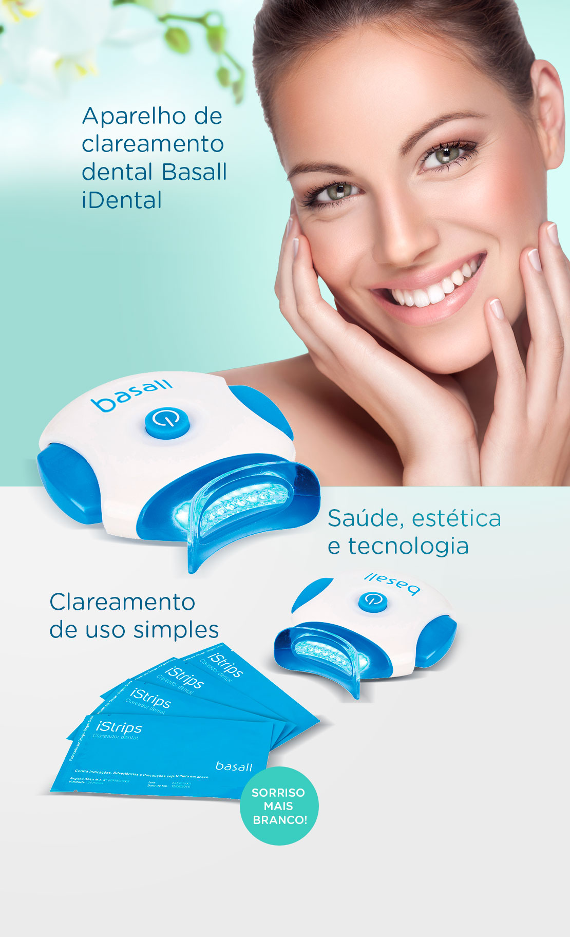 Aparelho De Clareamento Dental Basall Idental Advanced White